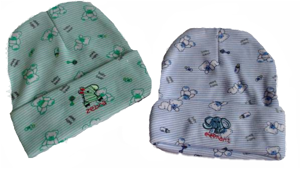 Boys cute premature babies hat BABY BEAR Mint  or blue 3-5lb