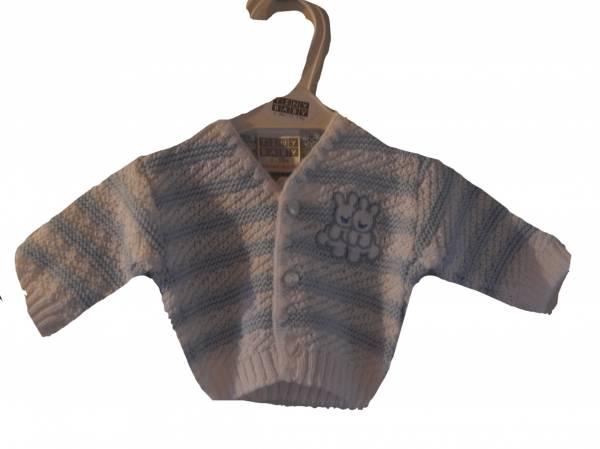 tiny cardigans boys premature babies cardigan FUNNY BUNNIES blue 3-5lb size