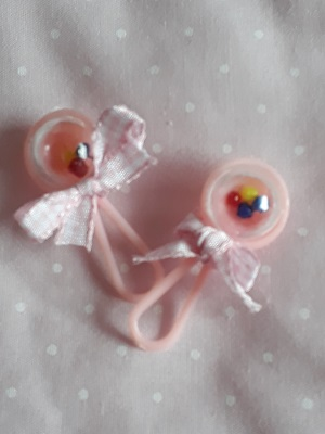 baby memory box toy rattle pink 4cm stillborn baby gift smallest micro bereavement gift