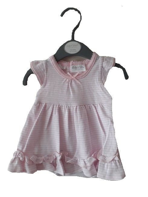 baby dresses for premature babies 5-8lb size PINK STRIPED