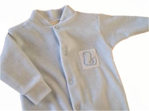 soft premature baby grow HELLO DUCKY 5-8lb size  BLUE