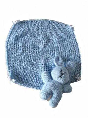 baby burial tiny bereavement blanket casket blanket Blue PRECIOUS LOVE 30cm
