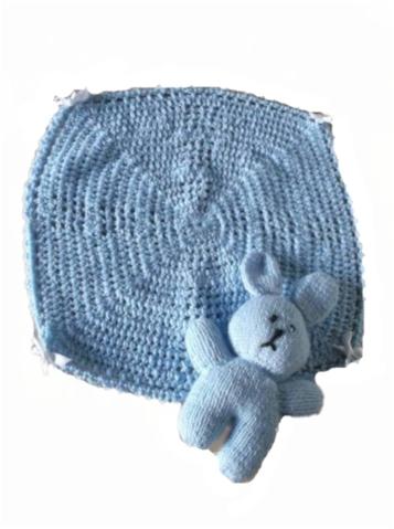 baby burial tiny bereavement blanket casket blanket Blue PRECIOUS LOVE 30cm