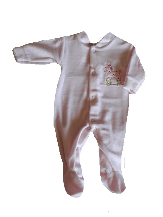 baby grows girls  tiny baby sleepsuit pink ROCKABYES 5-8lb