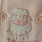 baby pramsuits girls tiny baby 5-8lb pink LITTLE LAMB