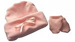 2lb baby premature labour babies clothes 1-2LB hat n mitts PASTEL PEACH