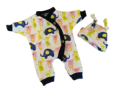 early baby clothing 2-3lb 2 piece set RAINBOW SPLASH