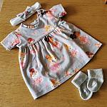 premature baby dress three piece size 3-5lb LITTLE DANCERS