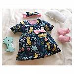 tiny baby dresses uk JUMPING IN THE JUNGLE size 3-5lb