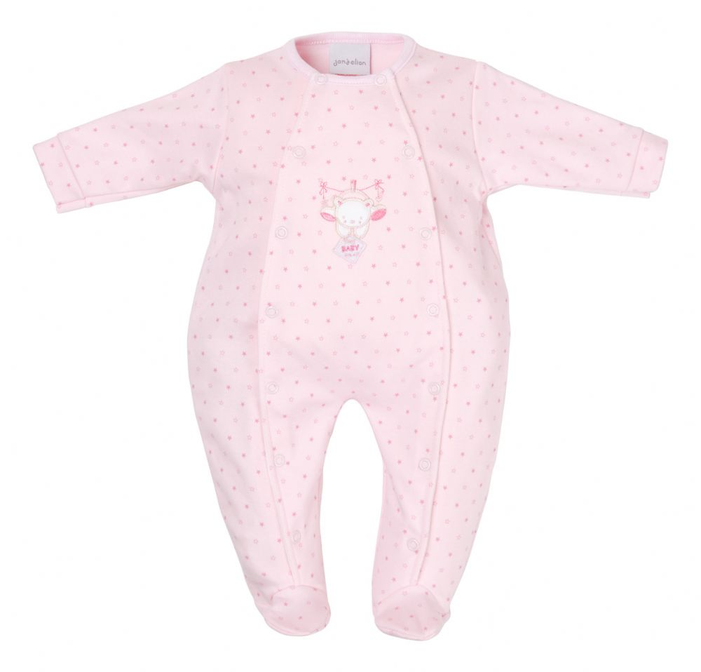 Premature baby clothes  sized 3-5lb PINK GIGGLES Cotton babygrow