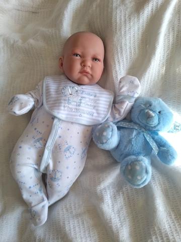 premature baby clothes 3-5lb NANAS gift set vest bib hat mitts BLUE TIGER
