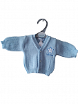 premature baby clothes early baby Cardigan 3-5lb blissful baby in BLUE