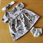 baby dress tiny babies three piece set size 3-5lb LITTLE GIRLS