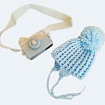 Boys Premature Baby hat pom pom colour sky blue 3-5lb