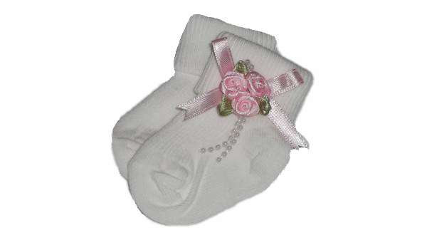 Tiny baby girls socks special occassion SINGLE ROSE PINK 5-8LB 000