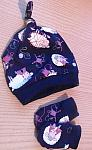 Girls premature baby clothes  accessories Hat and Mittens NOVELTY KNITS 3 - 5LB