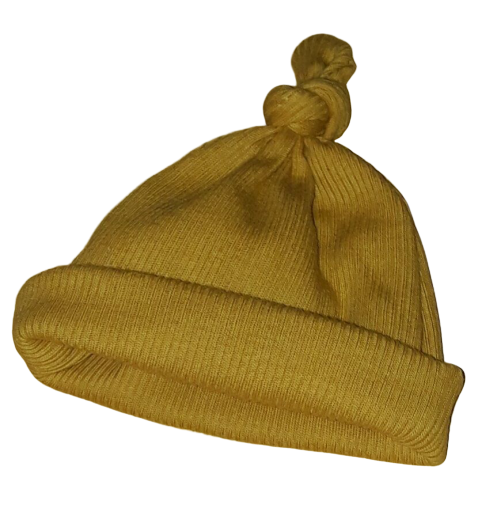 prem babies hat knotted cutest size 3-5lb by Nanny nicu SALTED CARAMEL