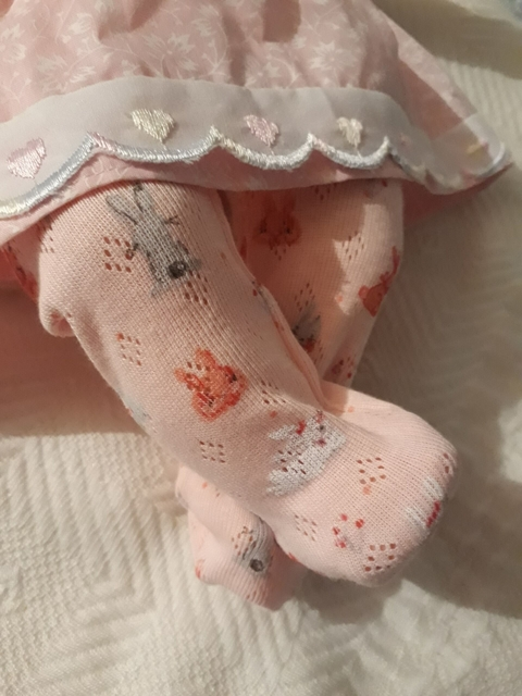 premature baby tights tiny baby 3-5lb Pontelle HONEY BUNNY pink