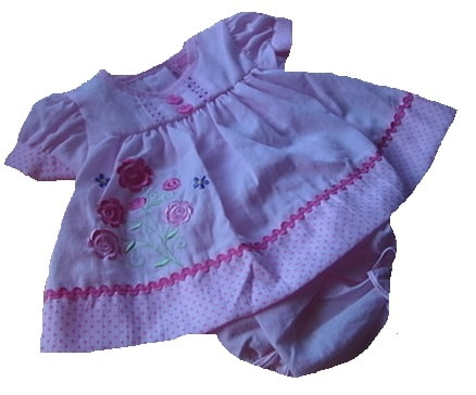 Premature baby dress set PINK  ROSE BLOSSOM 3-5lb or 5-8lb tiny baby dresses