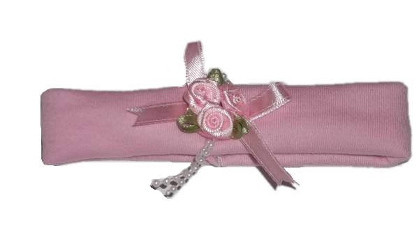 premature baby clothes acessories tiny baby HEADBAND Crisscross Roses 3-5lb