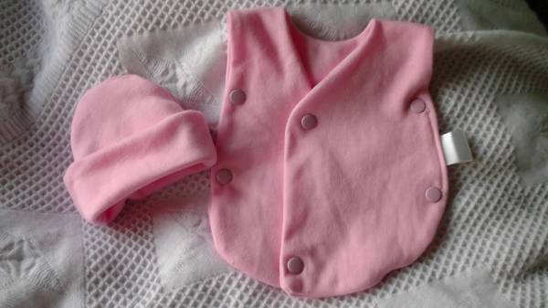 girls premature baby clothes NICU vest set Pink POPSIE tiny baby size 3-5LB