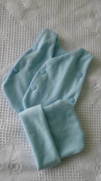 tiny premature babies  vest set Blue 1-2 lb neonatal babies sizes