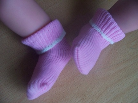 Girls premature baby loss bereavement clothes little Socks 1-2lb SHERBERT PINK