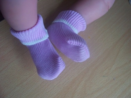 Girls premature baby loss bereavement clothes Socks tiny 1-2lb LILAC