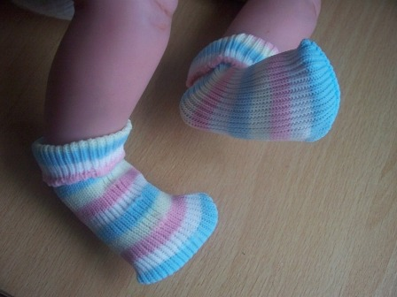 SNUGGIES  premature baby socks RAINBOW MIX Size 1-5LB 000000