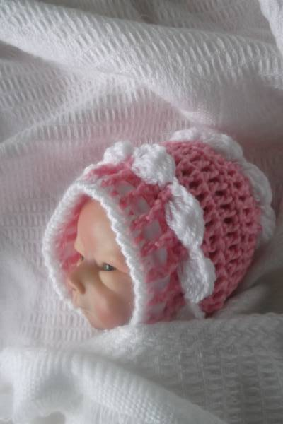 smallest baby hat premature 2.0-2.5kg tiny bonnet BONNYBABE 3-5lb PINK