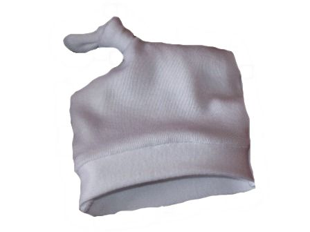 SNUGGIES MICRO Prem baby  hat KNOT WHITE choose size in cms soft cotton 1-3lb