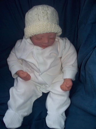 PREM baby clothes handknitted baby hat  CREAM ALL SIZES