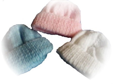 Premature babies hat handknitted tiny baby hat PASTELS 500grams - 1.5kg 1-3LBS