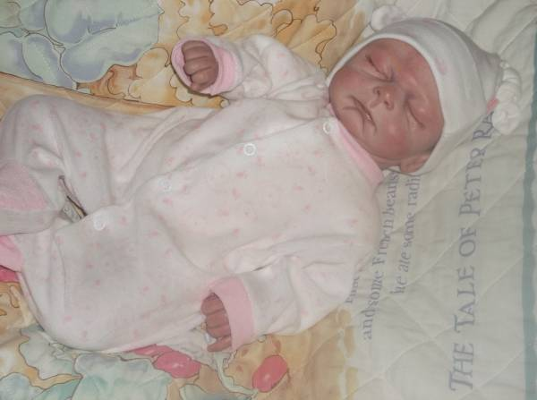 girls premature baby clothes sleepsuit TEDDY LOVE tinybaby 5-8lb