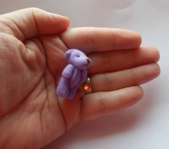 tiny teddies here baby bereavement memory box gift PURPLE stillborn babies 4cm