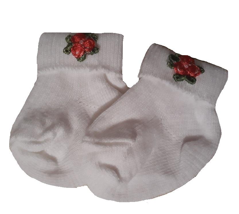 premature baby socks RED ROSES 3-5LB girls tiny baby socks
