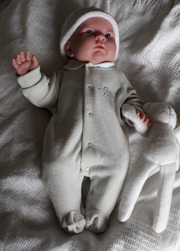 premature baby wear Sleepsuit EARLY BIRD 3-5lb pearl grey