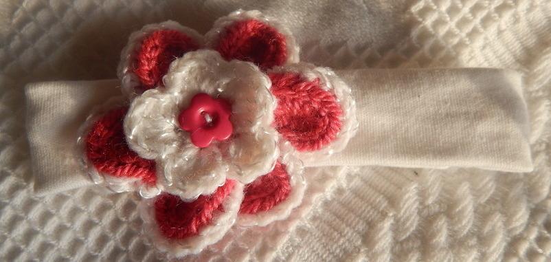 headband for newborm babies Premature style B POSY PETALS 3-5lb