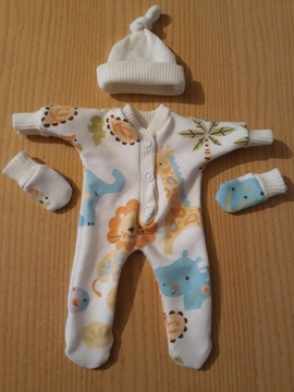 unisex baby bereavement clothes babies born at 20 weeks SAFARI WONDERLAND
