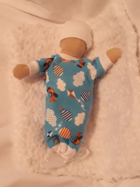 Boys tiny baby bereavement gown SKY SO BRIGHT babies born at 20 weeks stillbirth