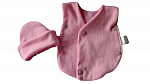 sleeveless baby vests 1 hat and vest nicu 2-3lb pink