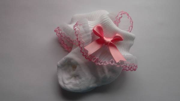 girls small early babies socks 3-5lb dressed for best PINK
