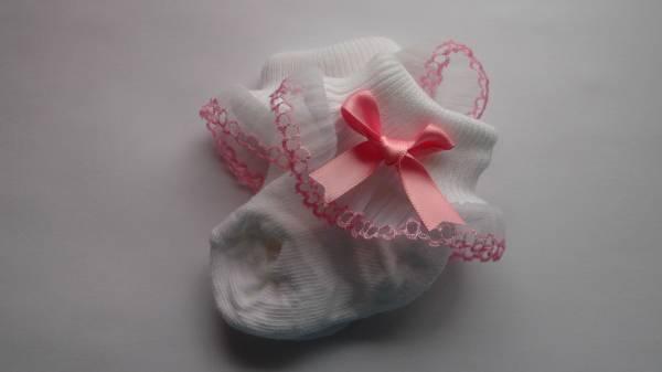 girls tiny premature socks 5-8lb dressed for best PINK