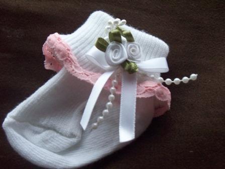 prem baby girls socks BEST OF THE BEST pink/white rock  000 5-8lb