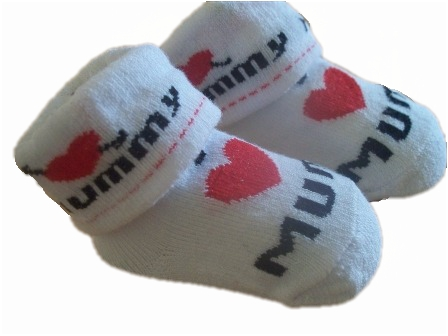 BABY SOCKS Premature baby socks I LOVE MUMMY 3-6lb size 0000
