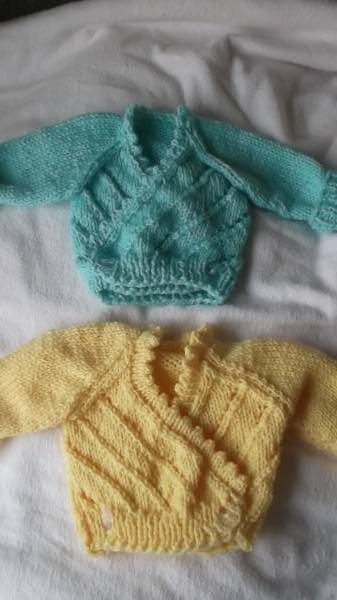 small preterm baby clothes cardigan  premature babies 2-3lb turquoise or lemon
