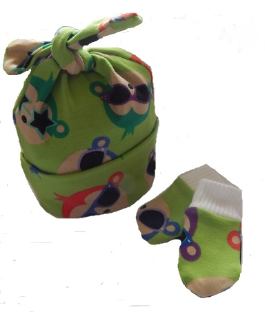 boys premature babies clothes hat n mittens set 3-5lb COOL DUDE tiny
