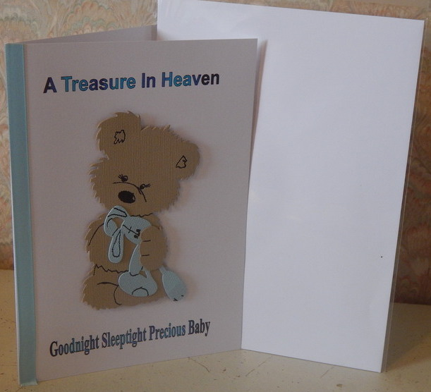 babies sympathy cards HUGGS BOYS bereavement card with love