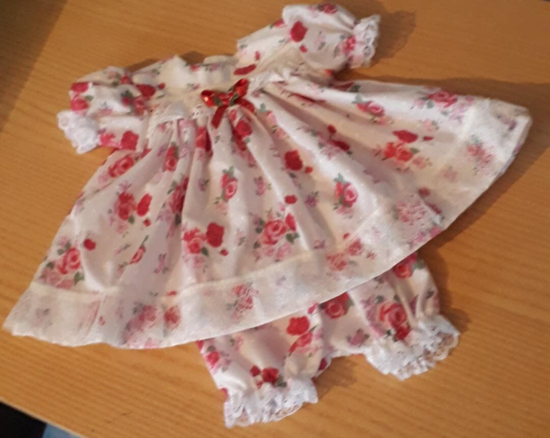 tiny babies dresses premature baby dress set ROYAL ROSE 2-3lb
