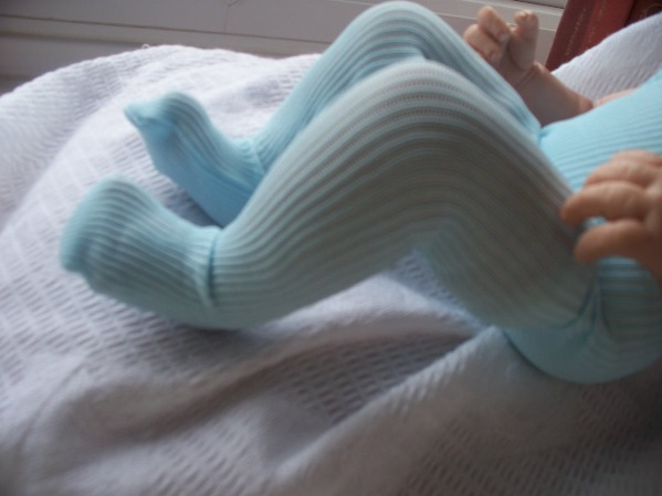 premature baby tights BABY BLUE 3-5lb by Snuggies